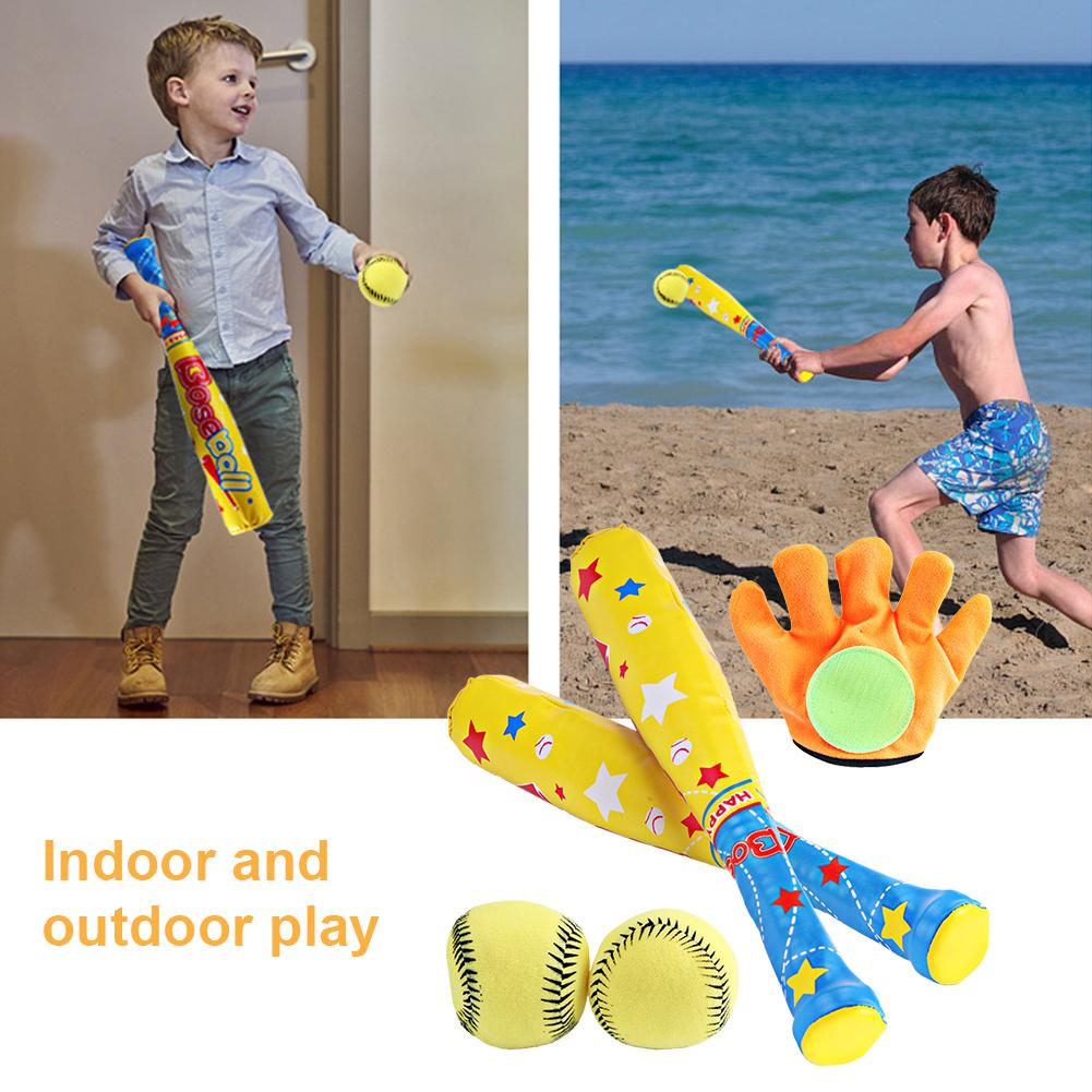 4PCS Children Baseball Toy Set Light Weight Parent-Child Toy Equipment For Outdoor Home Entertainment