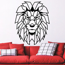 Geometric Objects Animal Wall Stickers Home Decor Living Room Lion Head Art Decal Mural Child vinilos paredes Paper LW255