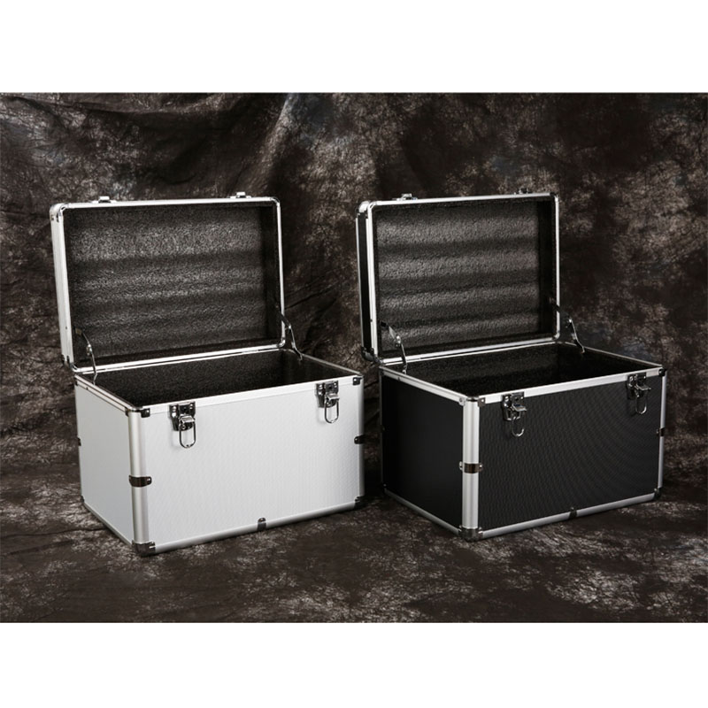 Aluminum Toolbox Portable Lockable Storage Box Equipment Instrument Case Outdoor Safety Box