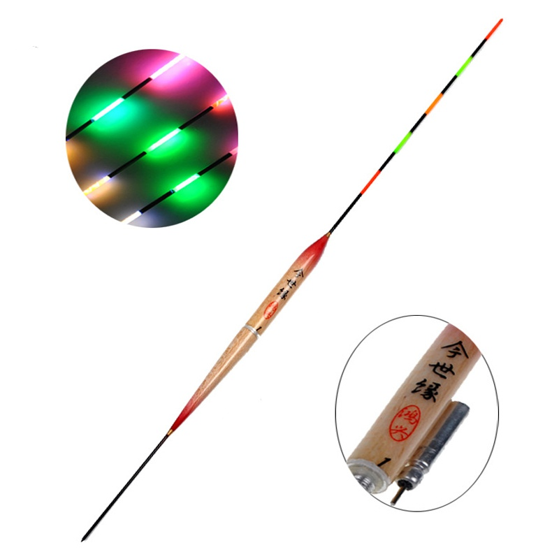 1pc LED Floating Fishing Floating Electric Light + Battery Deep Water Floating Fishing Equipment Fishing Tools