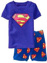 Летние Пижамные комплекты для мальчиков Детская Пижама с коротким