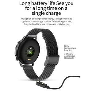 Image 5 - V25 Smart Watch Women Body Temperature Smart Bracelet IP67 Waterproof Blood Pressure VS GW33 V23 Smartwatch Andriod IOS Phone