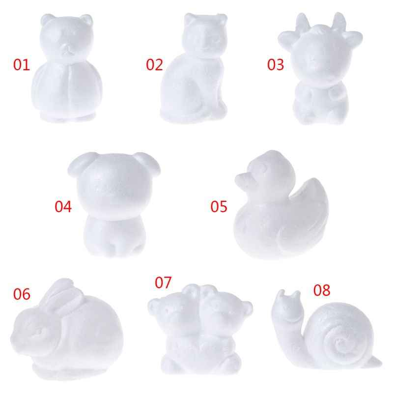 Modeling Animals Shape White Polystyrene Foam Balls Styrofoam Crafts For DIY Christmas Gifts Wedding Party Supplies Decoration