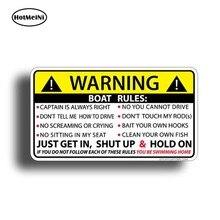 HotMeiNi 13cm x 7.3cm dla łodzi zasady ostrzegawcze naklejki śmieszne winylu wodoodporna Car Styling zderzak samochodowy naklejka wystrój samochodu naklejki