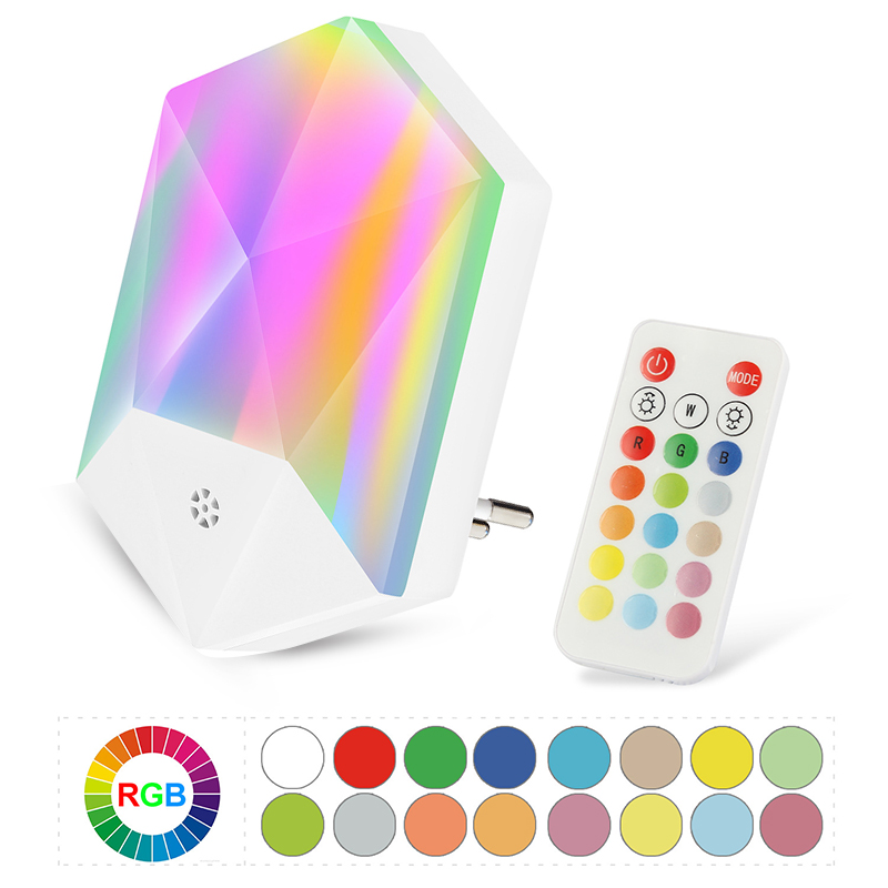 LED Night Lights With Remote Control 16 Colors Night Lamps Colorful Atmosphere Light For Kids Rooms Decorations
