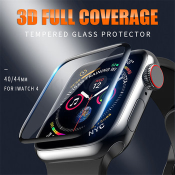 3D Tempered Glass For Apple Watch 40mm 44mm 42mm 38mm Series 4 3 2 1 Full Cover Curved Edge Protective Glass Film For iWatch