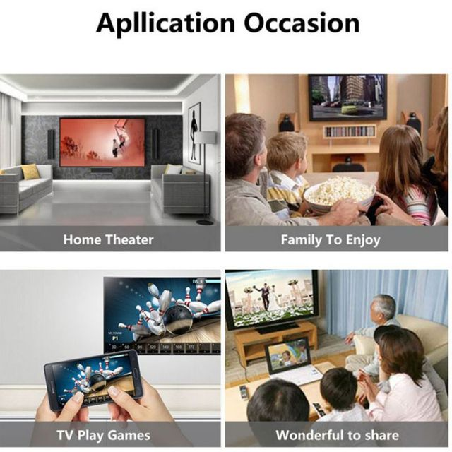 Mobile Phone To HDMI Cable Wireless Display Dongle USB Female 2-in-1 HDTV WiFi Video Adapter