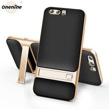 Volta Capas para Huawei P10/P10 Mais casos Fique Híbrido Silicone 3D Original 360 Do Telefone Móvel de Proteção Armadura HuaweiP10 p10Plus