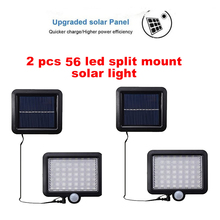 2/4pcs 100/56/30 LEDs Solar Light Motion Sensor Outdoor Garden Light Decoration Fence Stair Pathway Yard Security Solar Lamp Lig 1 4pcs led solar light wall lamp stainless steel waterproof garden decoration fence stair pathway yard security light solar lamp