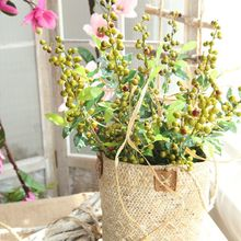 цена на Berry Artificial Dried Flower Bunch Bridal Wedding Party Foam Bouquet Table Decoration Bean Branch Fake Flower Home Decor