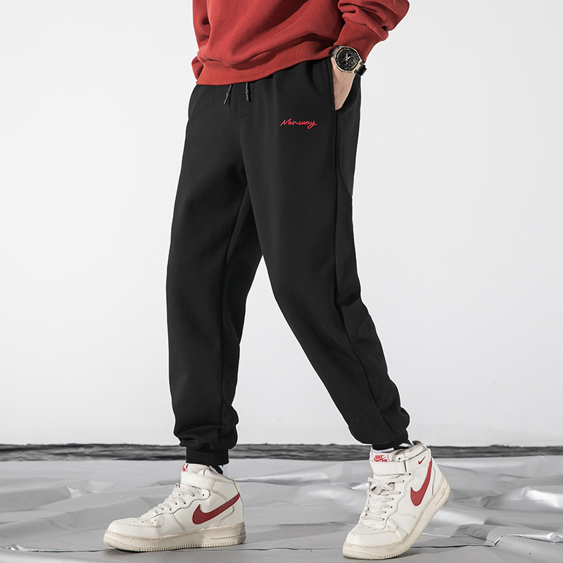 Black Joggers For Men Casual Sports Pants Men Comfortable Sweatpants Male Trousers Gym Clothing Elastic Waist Brand Jogging Pant