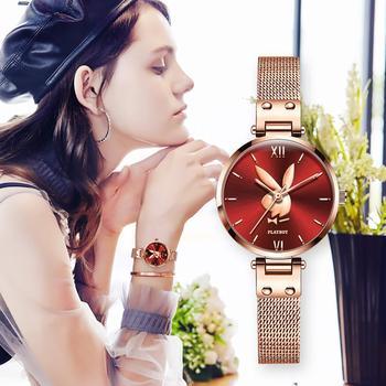 2021 New Watch for Women Stainless Steel Mesh Rose Gold Bracelet Waterproof Ladies Watch Fashion gift set for Women Montre femme