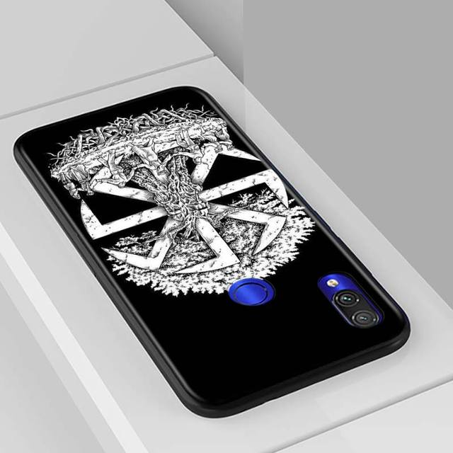 Slavic Viking symbol Kolovrat Shockproof Back Phone Case For Xiaomi Redmi Note 9 9S Max 8T 8 7 6 5 Pro 5A 4X 4 Soft Black Cover