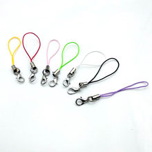 7CM Length Mulit-colors Mobile Cell Phone MP3 USB Lanyard Cords Strap Lariat Lobster Clasp Charms Nylon Key Ring chain craft DIY(China)
