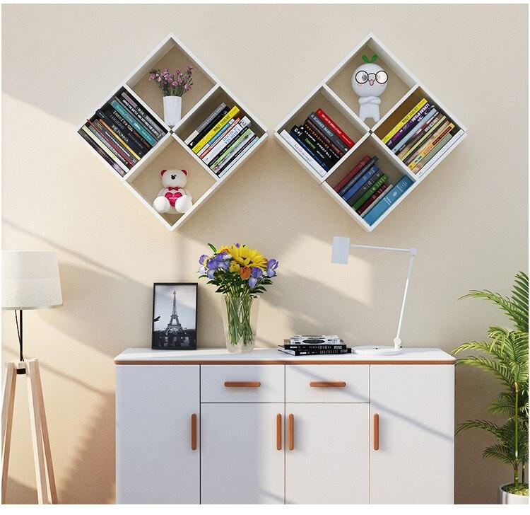 6PCS Hout DIY muur planken creatieve huishoudelijke planken voor wall opslag woondecoratie accessoires houten muur organizer - 6