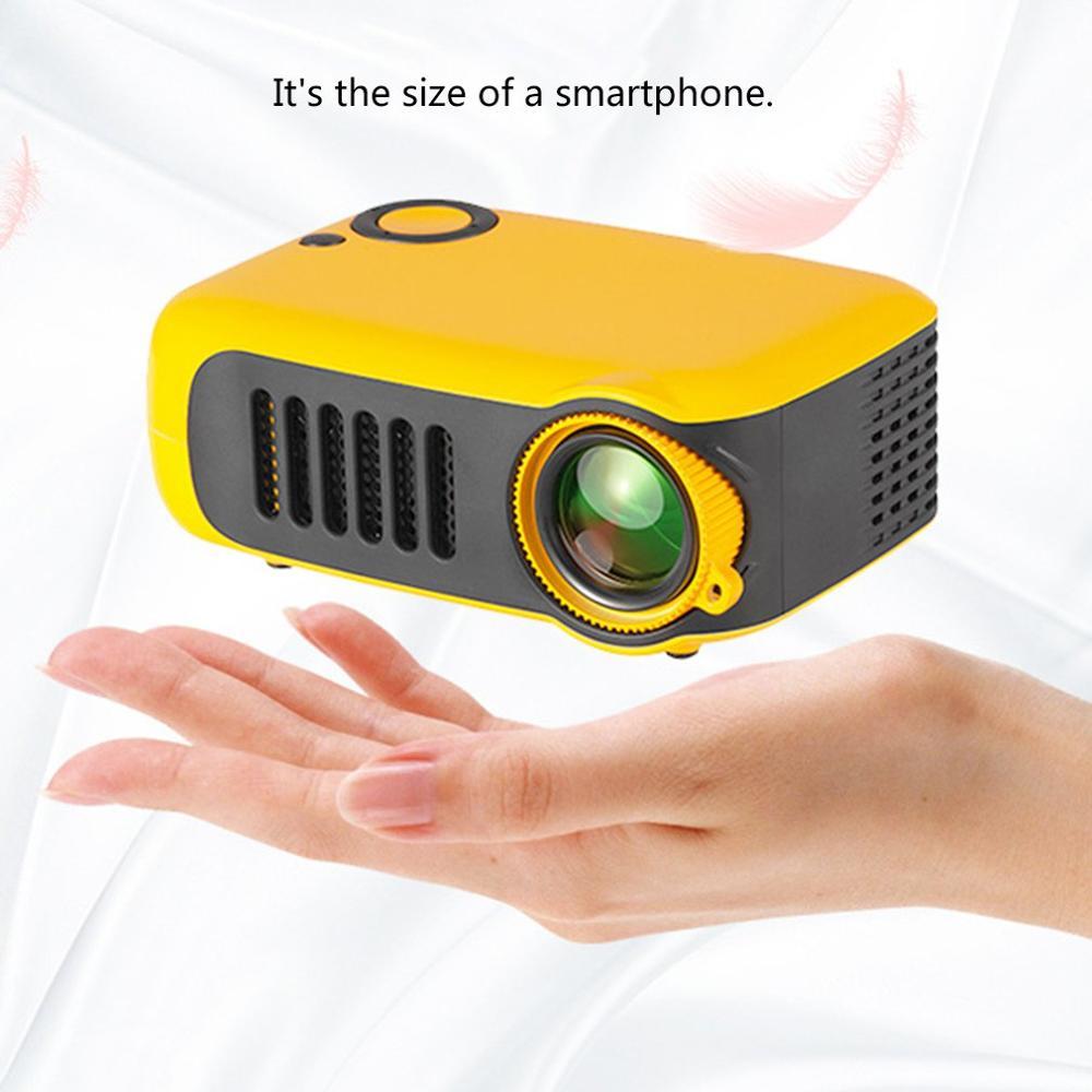 A2000 ménage Mini projecteur LED Support de divertissement 720P Hd projecteur Mini projecteur Portable projecteur cinéma maison cinéma