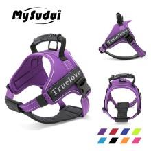 MySudui Truelove Large Dog Harness Vest Reflective Chihuahua No Pull Tactical Small Pet