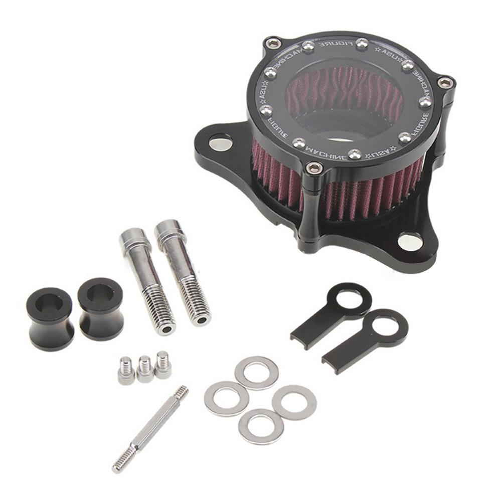 Aluminum Alloy Locomotive Air Cleaner Intake Filter System Kit for Harley Sportster XL883 1200 Motor Accessories CNC technology