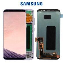 Originele S8plus Display Screen Voor Samsung Galaxy S8 Plus Scherm Vervanging Lcd Touch Digitizer Vergadering G955 G955F Met Frame