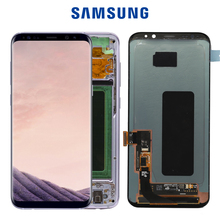 Oryginalny ekran dotykowy S8plus do SAMSUNG Galaxy S8 PLUS wymiana ekranu dotykowego Digitizer G955 G955F z ramą