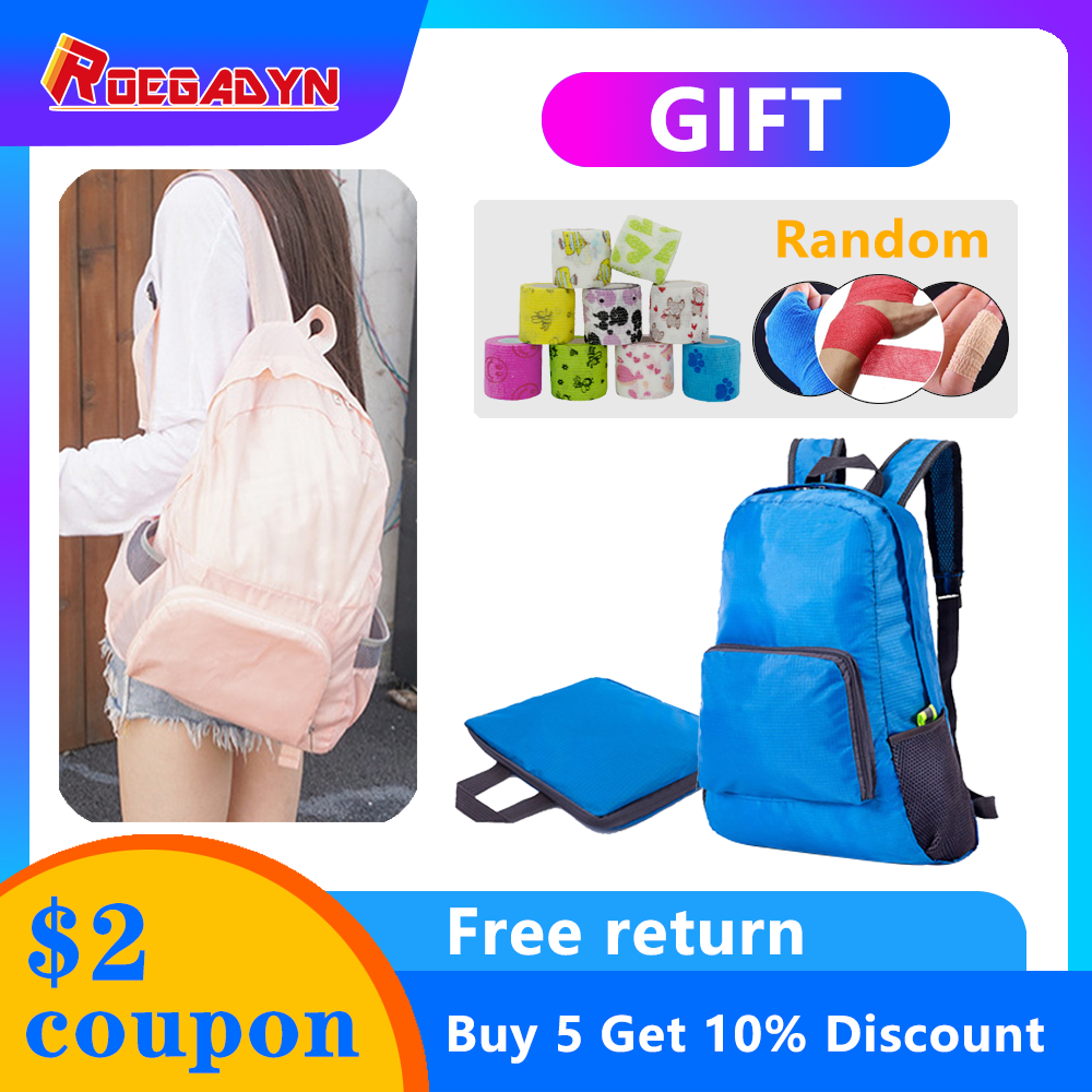 ROEGADYN Outdoor Sports Women Men Small Foldable Backpack Waterproof Backpack Cover Multi-Functional Hiking And Travel Bag Pack