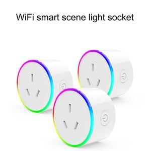 Умная WiFi Розетка Wifi домашняя умная штепсельная вилка AU с таймером штепсельная Вилка питания монитор питания дистанционное управление для ...