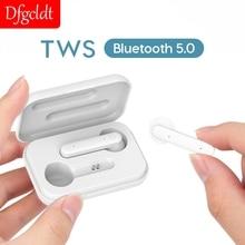 Tws Bluetooth 5.0 bezprzewodowe słuchawki minisłuchawki radio HIFI Bass muzyka True Eaphone z mikrofonem zestaw głośnomówiący słuchawki wodoodporne