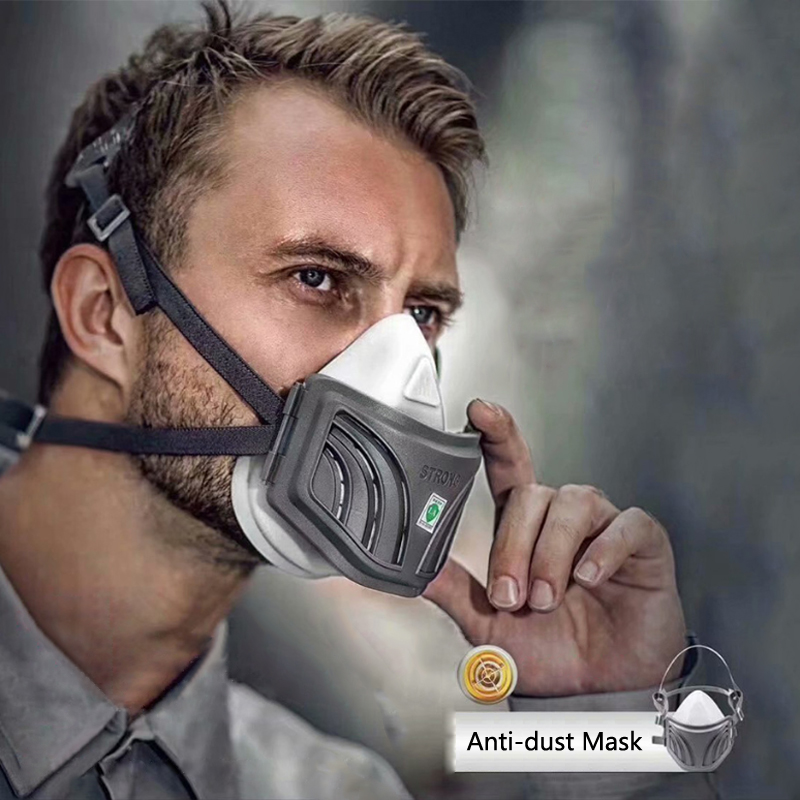 Filter Half Face Dust Gas Mask KN95 Filter Element Respirator Safety Protective Mask Anti Dust Organic Vapors PM2.5 Fog
