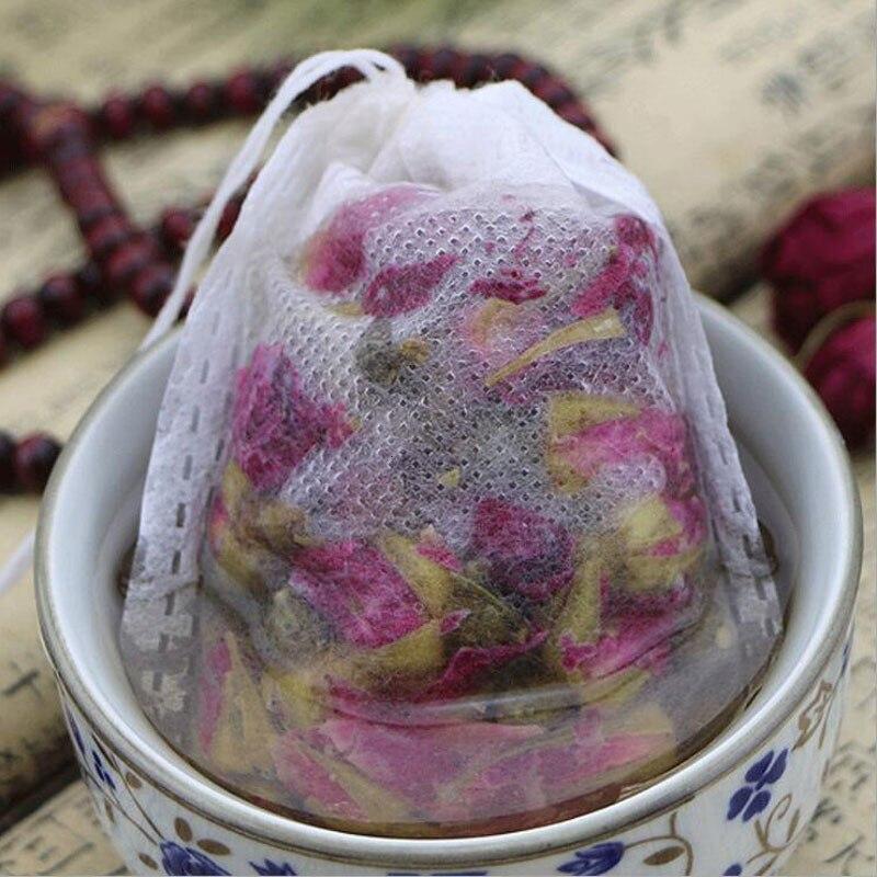 100Pcs/Lot Tea Bags 1-100g Empty Tea Bags Drawstring Pouch Bag Heal Seal Filter Paper Herb Loose Tea Coffee Pouches Tools