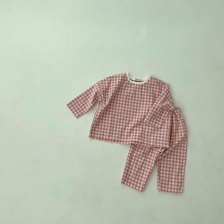 6M-3T Toddler Newborn Infant Baby Girls Boys Clothes Set spring Long Sleeve T-shirt + Pants 2pcs Outfits Plaid Baby Clothing