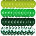 Для выведения токсинов, 40 шт зеленых воздушных шаров набор оливковое конфетти для воздушного шара клипсы для воздушных шаров, сафари животн...
