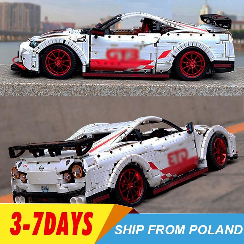 23010 GT-R Technic RC  Racing Car With Motor Function Remote Control MOC-25326 Building Blocks Bricks Led Light 3408pcs