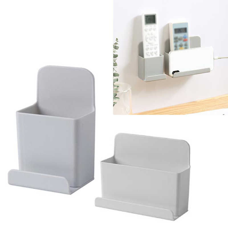 Bracket Phone Rack Wall-mounted Box Stand 2 Sizes TV Remote Control Storage S