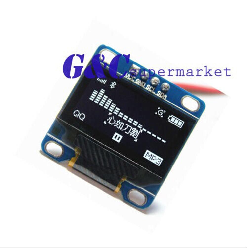 """White 0.96/"""" SPI 128X64 OLED LCD Display Module for Arduino//STM32//AVR//51"""
