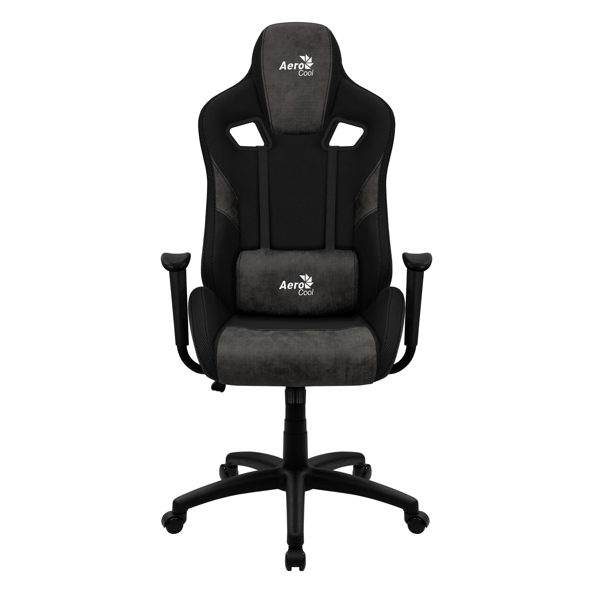Aerocool COUNT, Gaming Chair, AeroSuede Breathable, Backstop Adjustable, Black