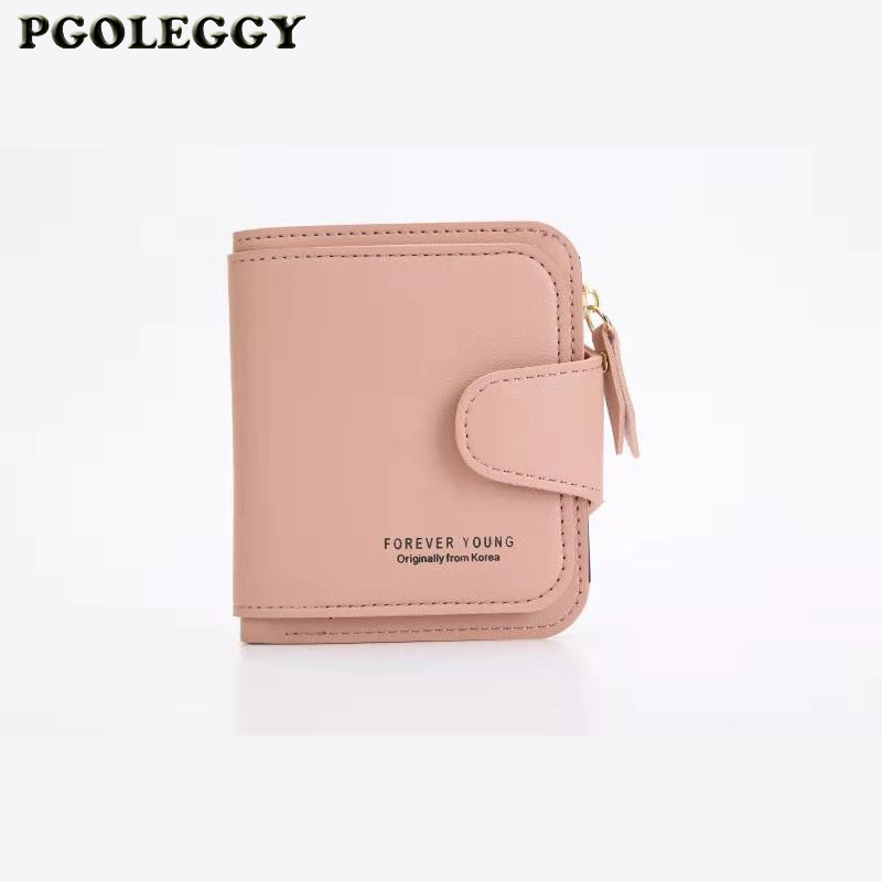 New Women Wallets Hasp Small Slim Hasp Zipper Leather Wallet Coin Purse Pocket Purse Card Holder Luxury Wallet Carteira Feminina