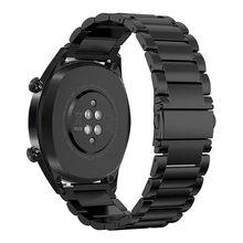 20/22mm Watchband için Huawei izle GT2/GT/GT 2E ayarlanabilir akıllı Watch Band paslanmaz bilezik huawei Gt2 izle aksesuarları