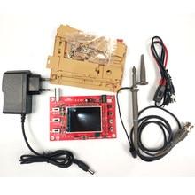 Entrada-nível handheld osciloscópio digital osciloscópio eletrônico iniciante aprendizagem kit p6100 teste sondas 9v/1a adpater