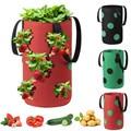 Подвесная фетровая ткань для посадки клубники, искусственная утолщенная сумка для выращивания растений в саду с карманами для визуализаци...