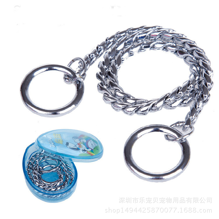 Wave Tournament Grade P Pendant Snake Chain Dog Pendant Dog Neck Ring Large And Medium Small Dogs Dog Collar Pet Collar Dog Trai