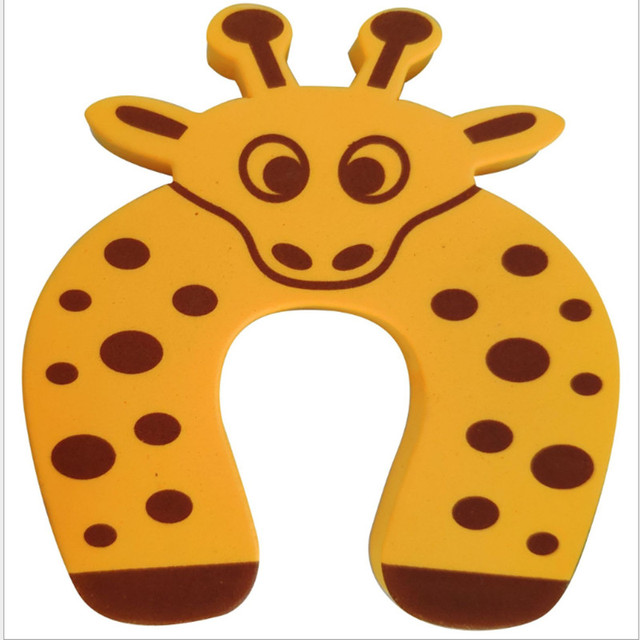 10pcs/Lot Kids Baby Cartoon Animal Jammers Stop Edge Corner Guards Door Stopper Holder Lock Baby Safety Finger Protector Cute 5