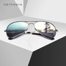 Бренд veithdia мужские винтажные Поляризованные солнцезащитные очки из сплава Классические солнцезащитные очки с покрытием линзы для вождения для мужчин 3026