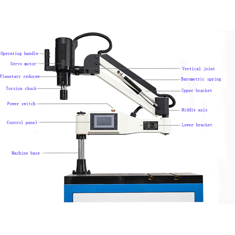 H3c0996e4078f43ac8fa84a7665e9b23aB - DIN 220V M3-M36 Vertical Type Electric Tapping Machine With  UNC Thread tap 9pcs