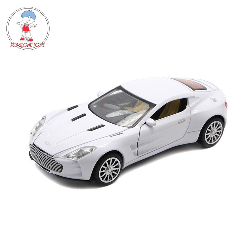 1/32 Scale Aston Martin Diecast Car Model Pull Back Car Toys With Sounds Lights Alloy Car Toy Kids Gift Collections