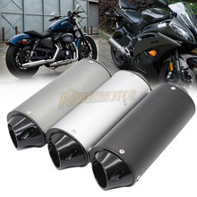 Universal 28mm Aluminum Alloy Black Slip-on 28mm//1.1 Inlet Modified Motorcycle Exhaust Pipe Muffler Silencer with Clamp Holder for 50cc 110cc 125cc Dirt Pit Rro Quad Bike ATV