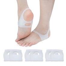 2 pçs o-tipo pé corrector palmilhas almofadas sem deslizamento sapatos para homem e mulher silicone palmilhas ortopédicas ferramenta de cuidados com os pés