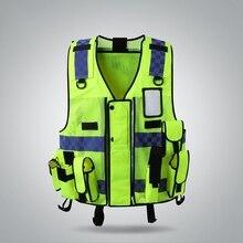 Рекомендуемый светоотражающий жилет высокая видимость Защитная Шестерня предохранительный бак верхняя конструкция дорожного движения внешняя одежда