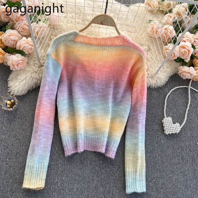 Soft Rainbow Knitted Cardigan 2