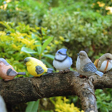 Resin Magpie decoration bird crafts DIY Outdoor Garden Tree Decoration Animal Sculpture For Home Office Garden Decor Ornament 10pcs set wooden mini round photo frame hanging crafts diy handmade with ropes home decoration ornament