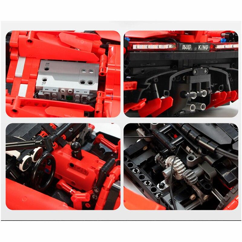 13079 poison RC Car MOC 10559 Veneno Roadster Motor Power Functions Fit App for legoing Technic Building Blocks Bricks Toys Gift 27